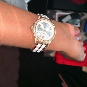 Fashion Nova White & Gold Watch